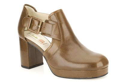 Womens Smart Shoes - Orla Dilly in Ochre Leather from Clarks shoes