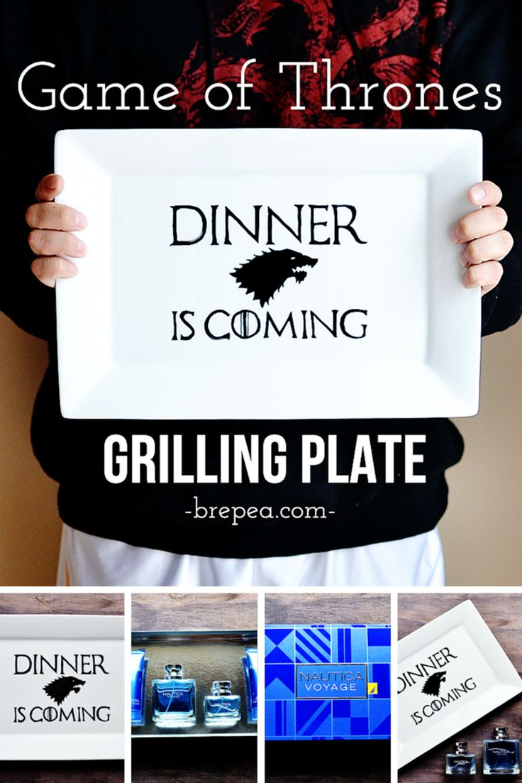 The perfect Father's Day gift for a Game of Thrones fan: DIY Game of Thrones Grilling Plate! #NauticaforDad #ad