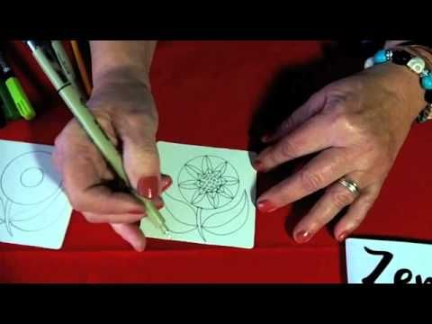 Zentangle® Flowers video tutorial by Suzanne McNeill