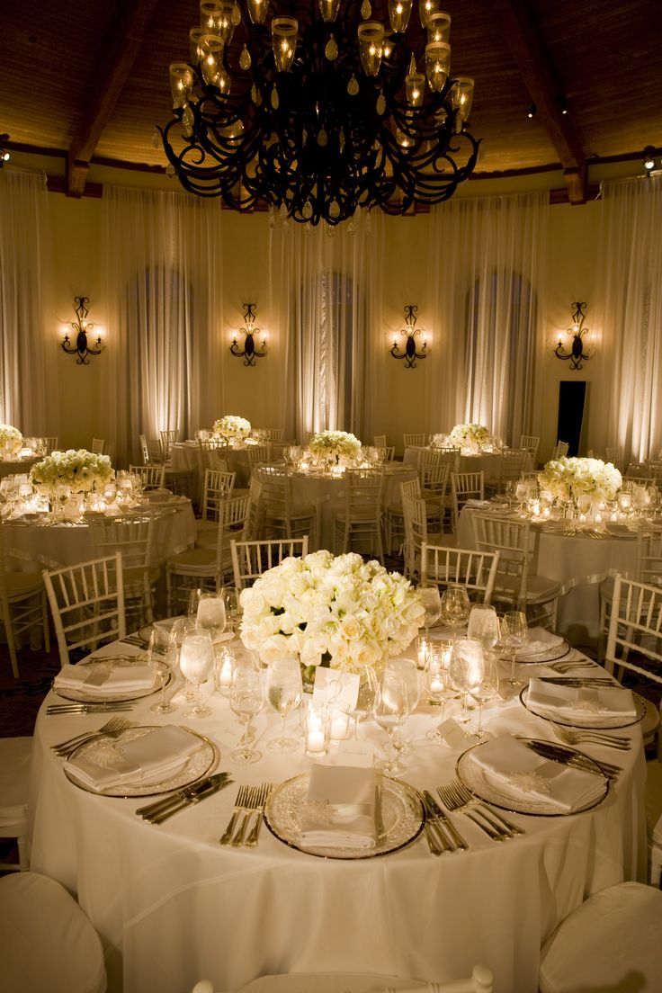 I like the lighting and the low centerpieces