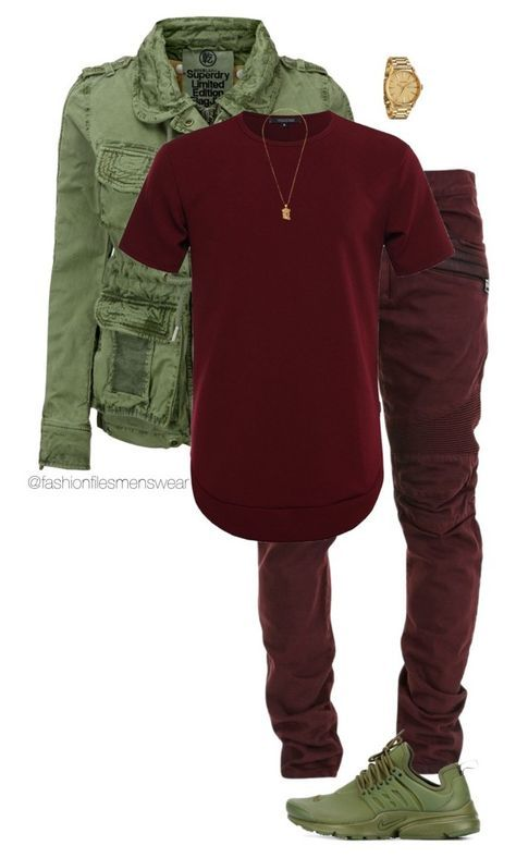 """Untitled #2744"" by highfashionfiles on Polyvore featuring Balmain, NIKE, Superdry, Nixon, men's fashion and menswear"