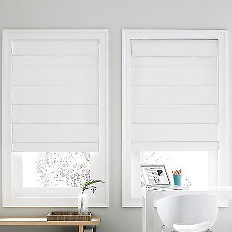 roman shade window covering option instead of curtains. specifically for the front of the house