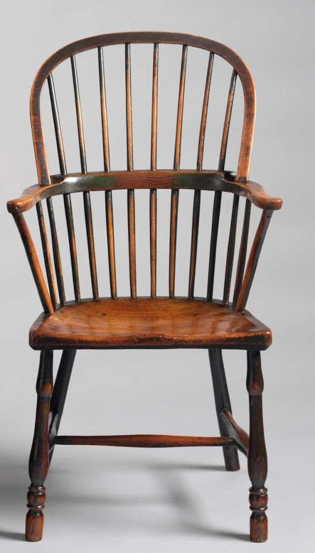 Double Bow Windsor Chair, Gillows, Ash And Elm, 18th C
