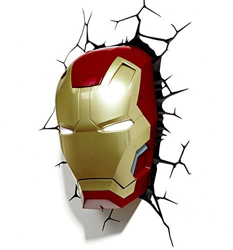 Marvel Comics 3D Iron Man masque applique murale: Amazon.fr: Luminaires et Eclairage