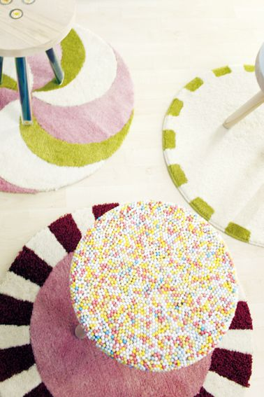 candy rugs : Kirstin Overbeck, candy stool