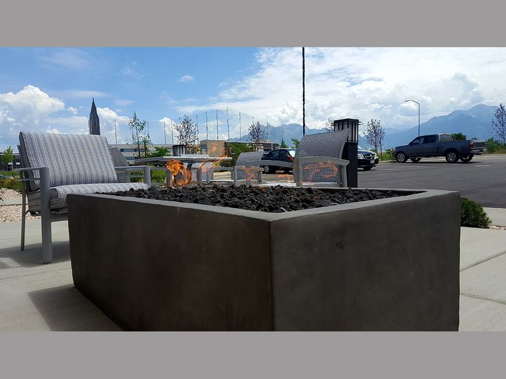 Geo Box Rectangular Fire Pit