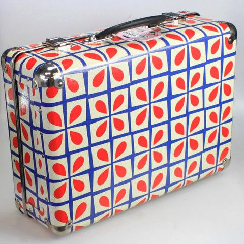 Suitcase - Retro Red Floral