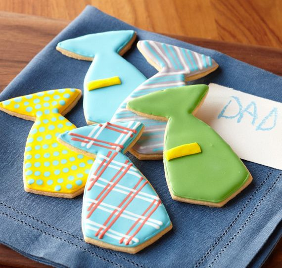 Fun idea — Tie cookies for #Dad.