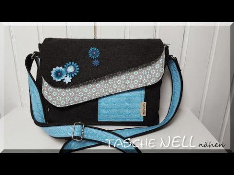 Hier zeige ich dir, wie du die Tasche Nell von AKkreativ nähst. Sie ist recht einfach zu arbeiten. Sie hat eine aufgesetzte Tasche und eine Reißverschlusst...