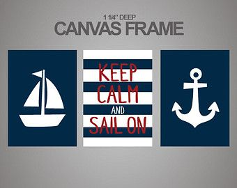 Popular items for nautical canvas art on Etsy