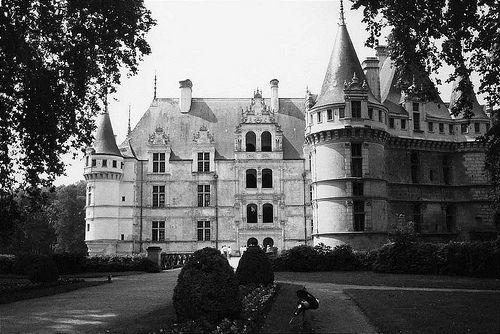 .: Azay Le Rideau Chateau, France Castles, Castles Blackandwhit, Posts, Castle Blackandwhite, Photo, Le Chateau
