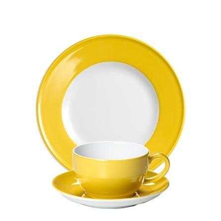 #Dibbern Solid Color Sonnengelb - Frühstücksgedeck