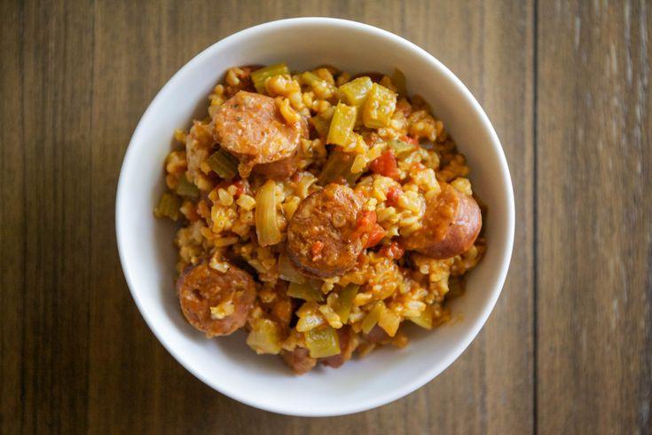Slow Cooker Chicken Jambalaya — My Healthy Dish