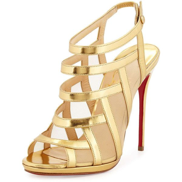 mens louboutin - christian louboutin patent leather sandals Nude crossover ankle ...