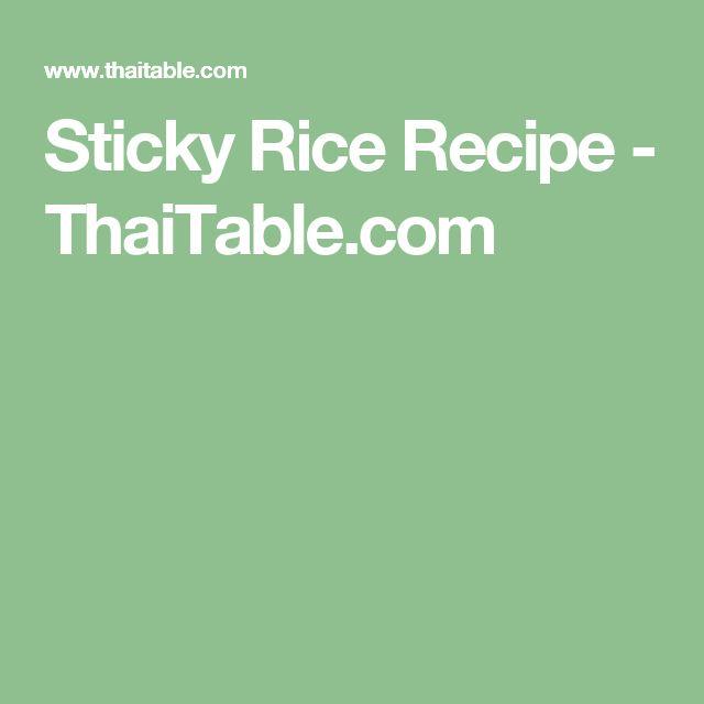 Sticky Rice Recipe - ThaiTable.com