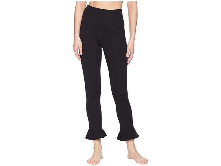 Beyond Yoga Frill Seeker High-Waist Midi Leggings Women's Casual Pants Jet Black