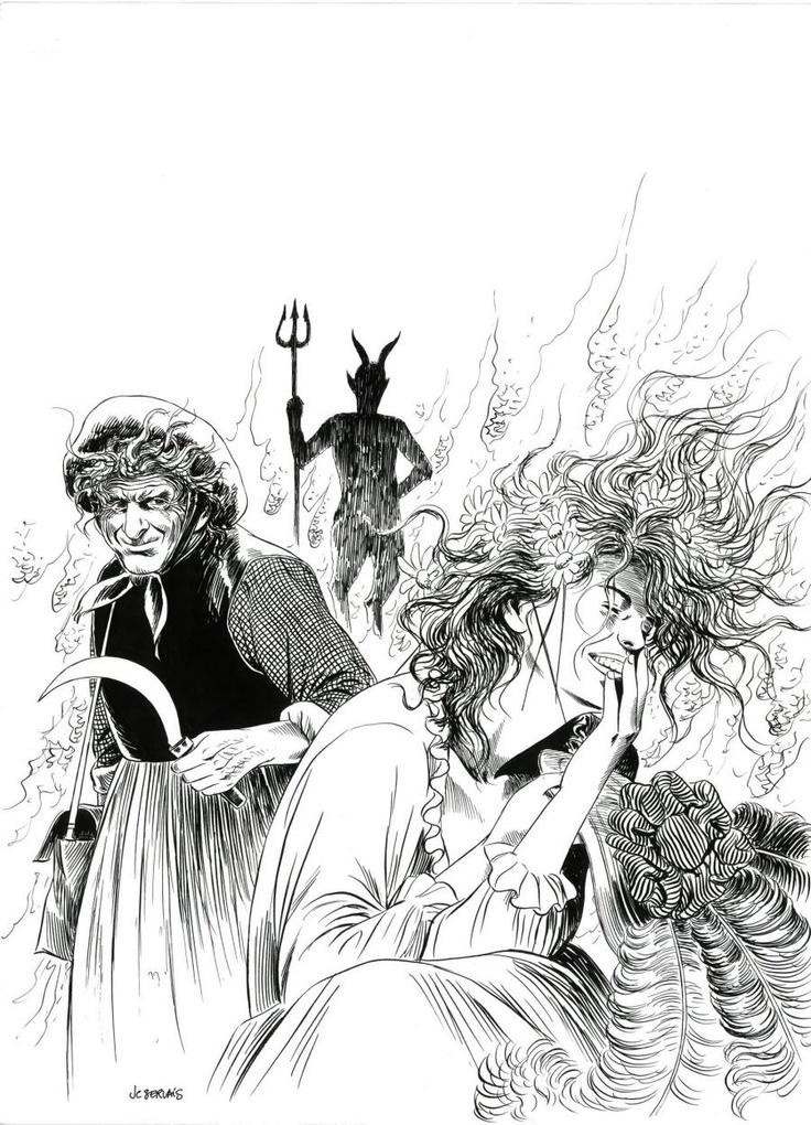 """Parmi les maîtres de la BD, Jean-Claude Servais propose une œuvre poétique et personnelle. Ses paysages sylvestres, ses scènes de nature sont parmi les plus belles du 9e art, comme son encrage quasi impressionniste. Scénariste et dessinateur, il puise ses racines dans ses montagnes ardennaises et la mémoire des anciens. Les femmes, les forêts, les rapports humains profonds, l'amour, la nature sont ses thèmes de référence.   Planche originale : """"Tendre Violette"""" illustration de page de garde"""