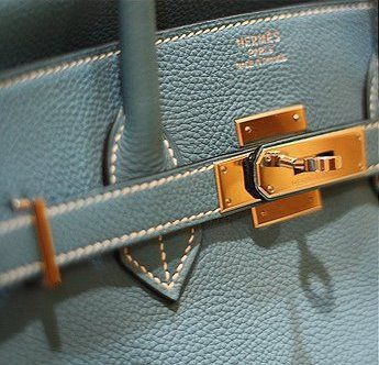 Hermes Birkin bag, powder blue, nice!