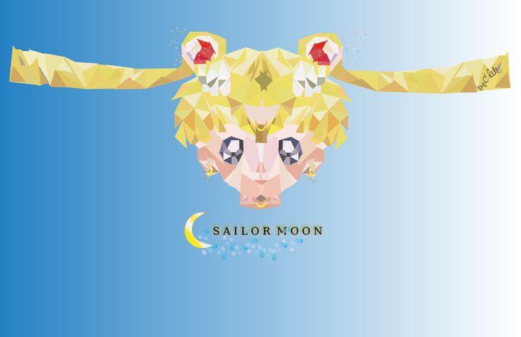 """Sailor Moon Fan art in Polygonal style Check out my @Behance project: """"Sailor Moon fan art in polygonal style"""" https://www.behance.net/gallery/63553519/Sailor-Moon-fan-art-in-polygonal-style"""