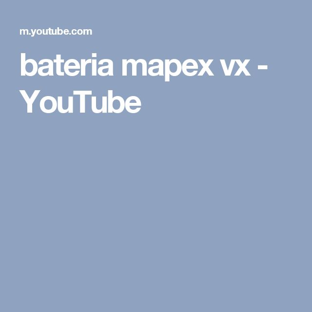 bateria mapex vx - YouTube