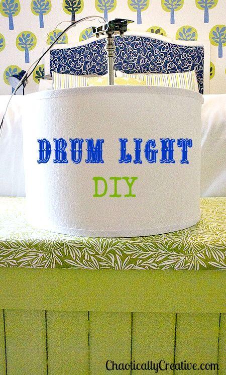 diy drum shade pendant light drum light diy drums lights and diy