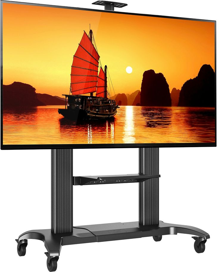 Lovely North Bayou Mobile TV Stand Heavy Duty TV Cart for Massive LCD LED OLED Flat Panel Plasma TV Inches up to lbs Universal TV Cart with Wheels