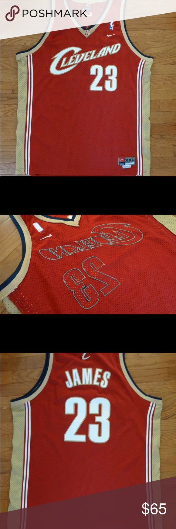 Nike LEBRON JAMES Cleveland XXL Jersey stitched Stitched letter and numbers. Cleveland Cavaliers. 23 LeBron James. XXL length +2, Nike. NS/NP home Nike Shirts Tank Tops