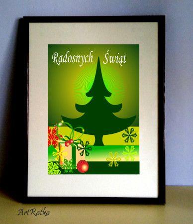 Plakat świąteczny A-3 - ArtRatka - Wydruki i plakaty
