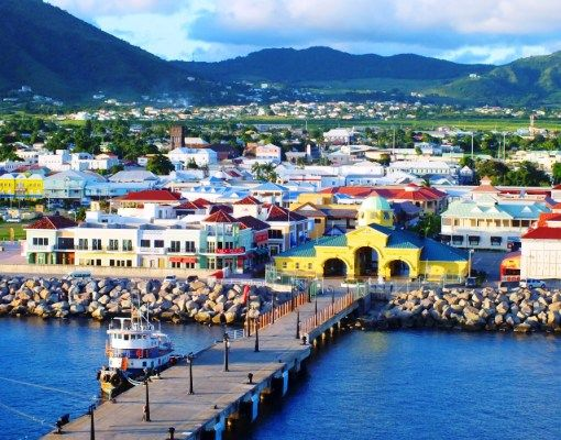 Basseterre the capital of St Kitts Nevis
