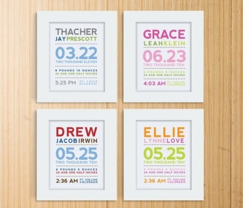 Kid infoWall Art, Births Announcements, Baby Gifts, Gift Ideas, Kids Room, Cute Ideas, Birth Announcements, Modern Typography, New Baby