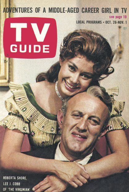 "TV Guide, October 26, 1963 - Roberta Shore and Lee J. Cobb of ""The Virginian"""