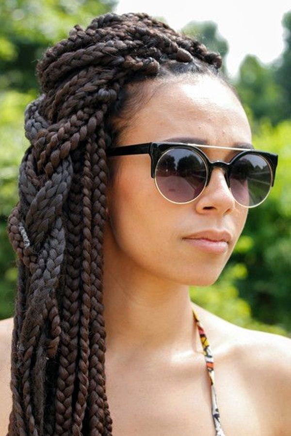 Groovy 1000 Ideas About Box Braid Styles On Pinterest Box Braids Hairstyle Inspiration Daily Dogsangcom