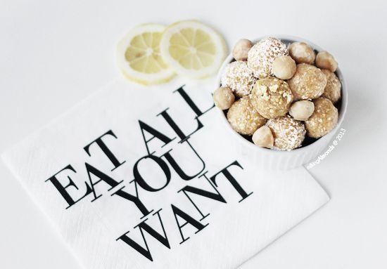lemon and macadamia truffles