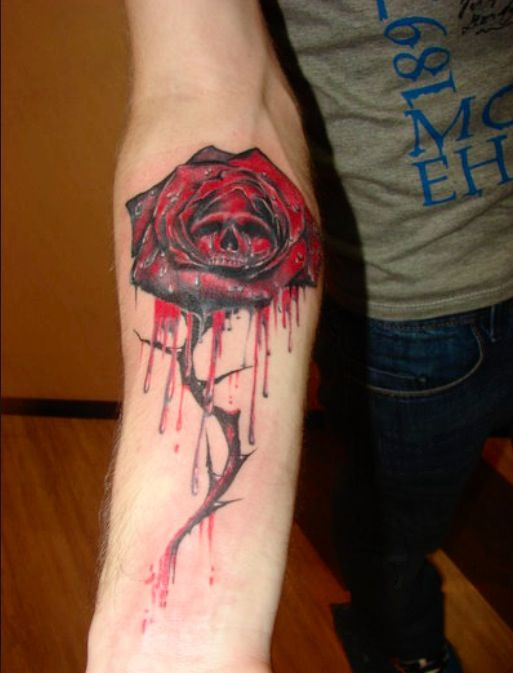 The rose to match the quote on my thigh. I want a white ...