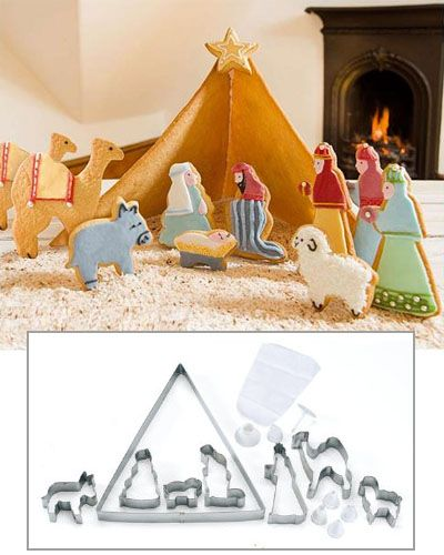 Nativity cookie cutters set.  This would be great for Christmas