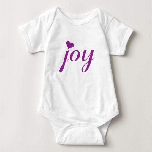 Cute Joy tshirt baby girl sleeper