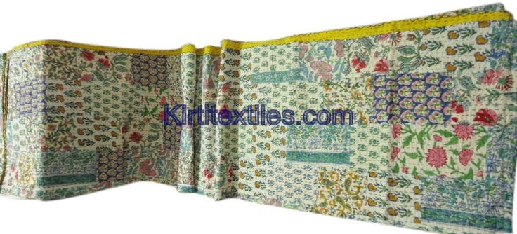 Ethnic Indian Traditional Designer Old Cotton Saree Patchworked Kantha Gudri Bedsperad Cum Throw From Jaipur India