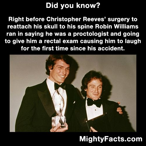 Chris Reeves and Robin Williams