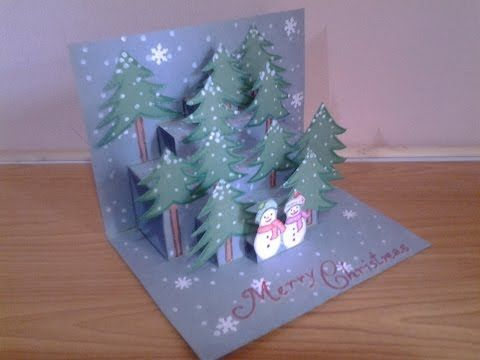 DIY 3D Christmas Pop Up Card | Very Easy | How to make | TCraft – YouTube