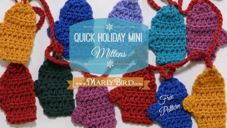 Free Crochet Pattern Quick Mini Mitten Garland