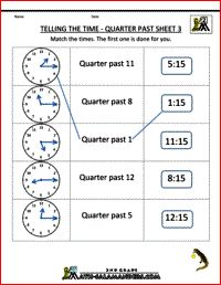 Many clock worksheets & resources