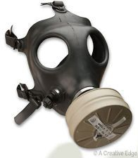 Israeli Gas Mask New Black Military NBC w/Standard NATO 40 mm Filter- Never Worn