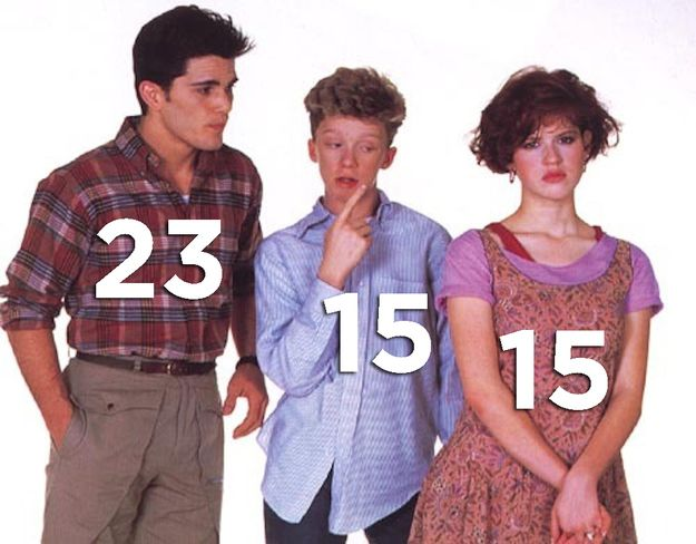 "Ages of the cast when the movie was being filmed: | 16 Things You Might Not Know About ""Sixteen Candles"""