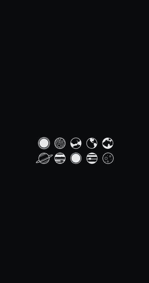 Luna - planetas - Wallpaper - Negro