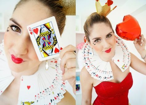 Carnival costumes-lady-make-up-instructions-herzkoenigin-woman-beautiful-heart-outfit