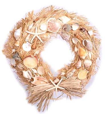 A 10'' willow wreath wrapped in natural raffia
