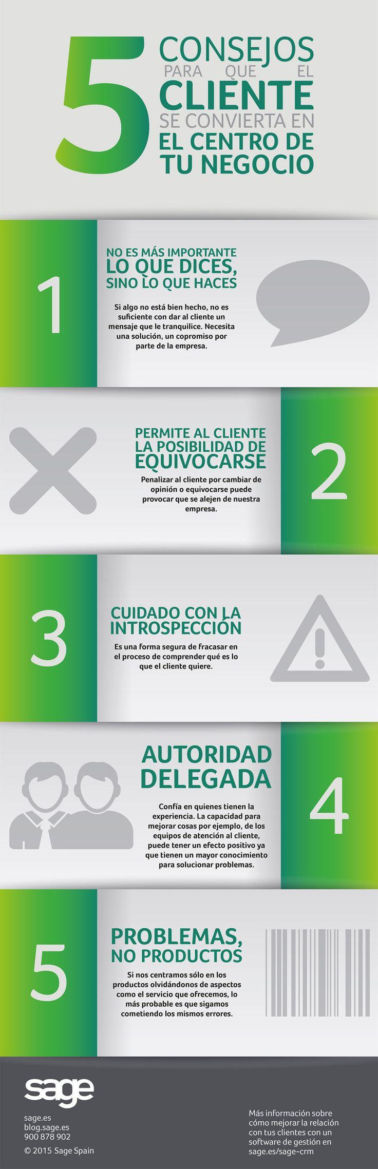 5 consejos para que tu cliente se convierta en el centro de tu negocio #infografia #marketing