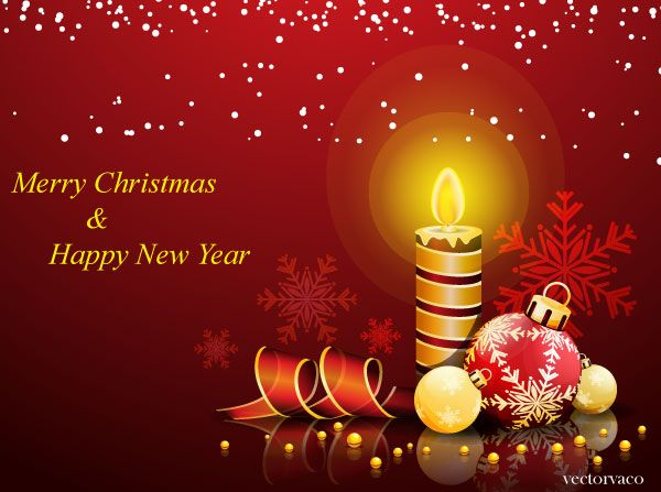 64 best happy new year free vector images on pinterest happy 2015 christmas and new year greeting card m4hsunfo