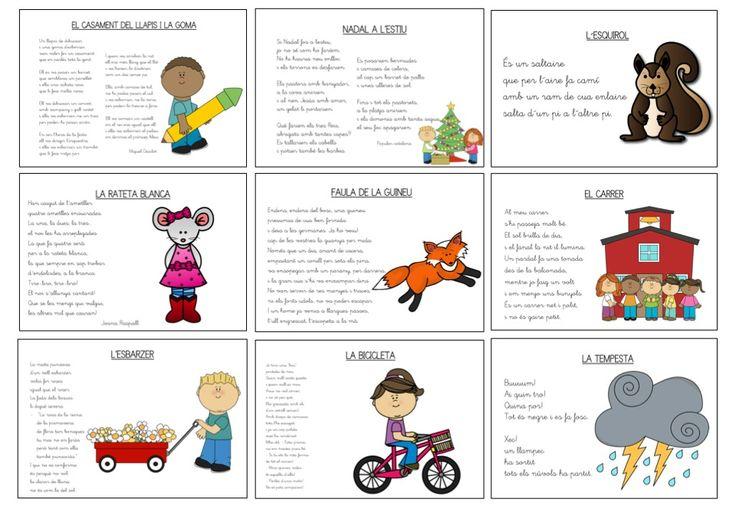 Poemes en català. Cada un el trobaràs en 3 formats diferents: amb dibuixos a…