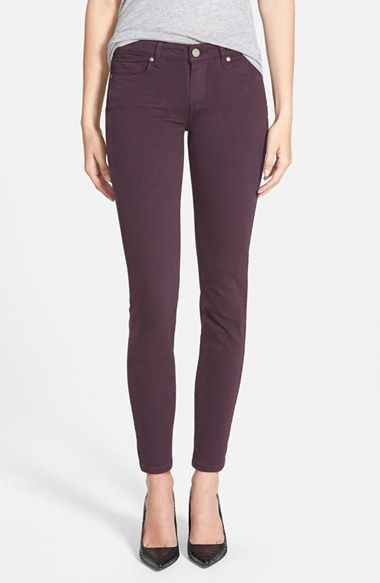 Paige Denim 'Verdugo' Ankle Skinny Jeans (Autumn Plum) (Nordstrom Exclusive) available at #Nordstrom